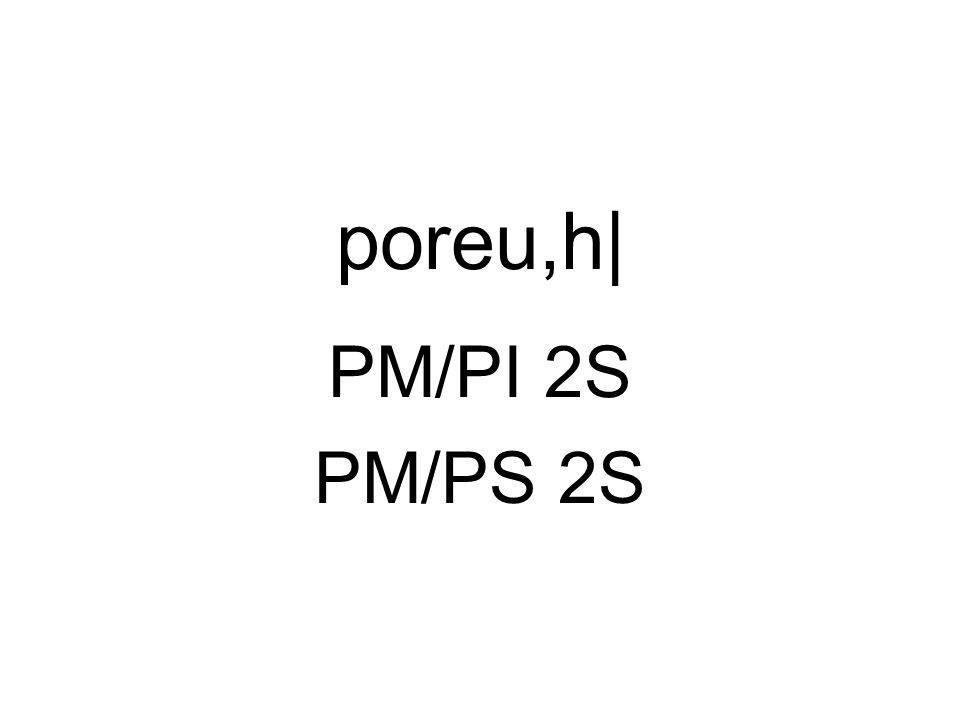 poreu,h| PM/PI 2S PM/PS 2S