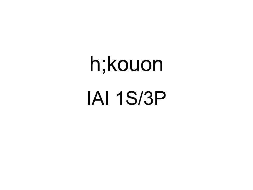 h;kouon IAI 1S/3P