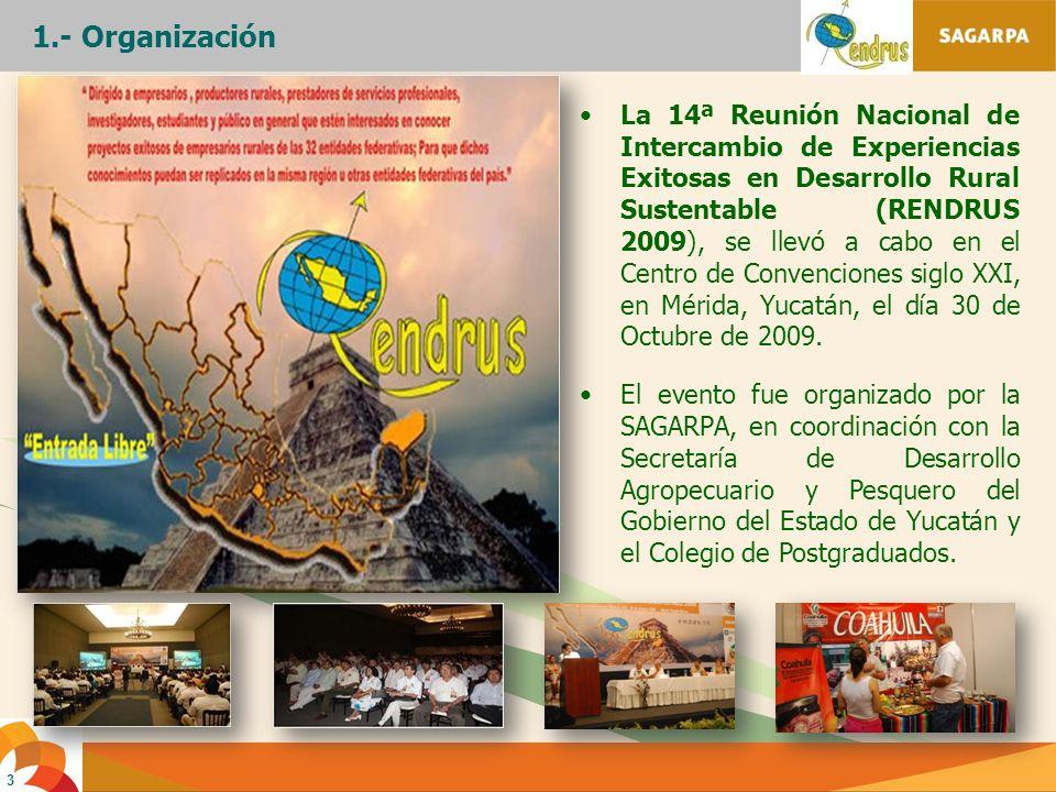 1.- Organización