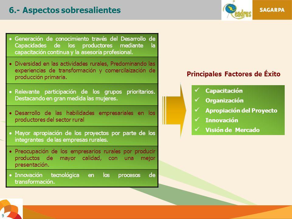 Principales Factores de Éxito