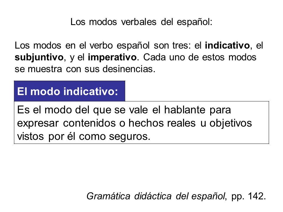 Los modos verbales del español: