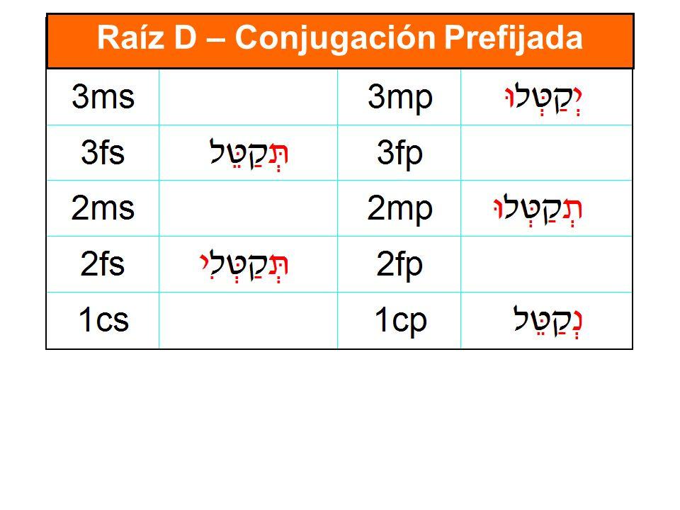 Raíz D – Conjugación Prefijada