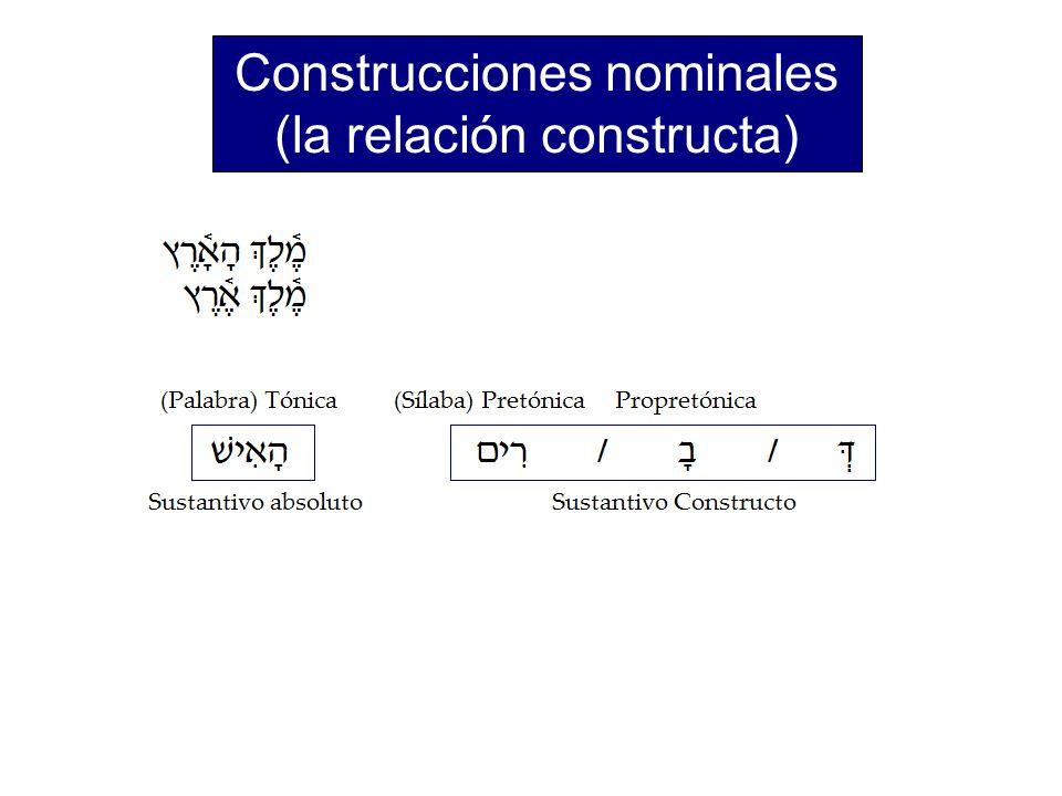 Construcciones nominales (la relación constructa)