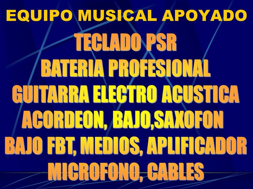 EQUIPO MUSICAL APOYADO