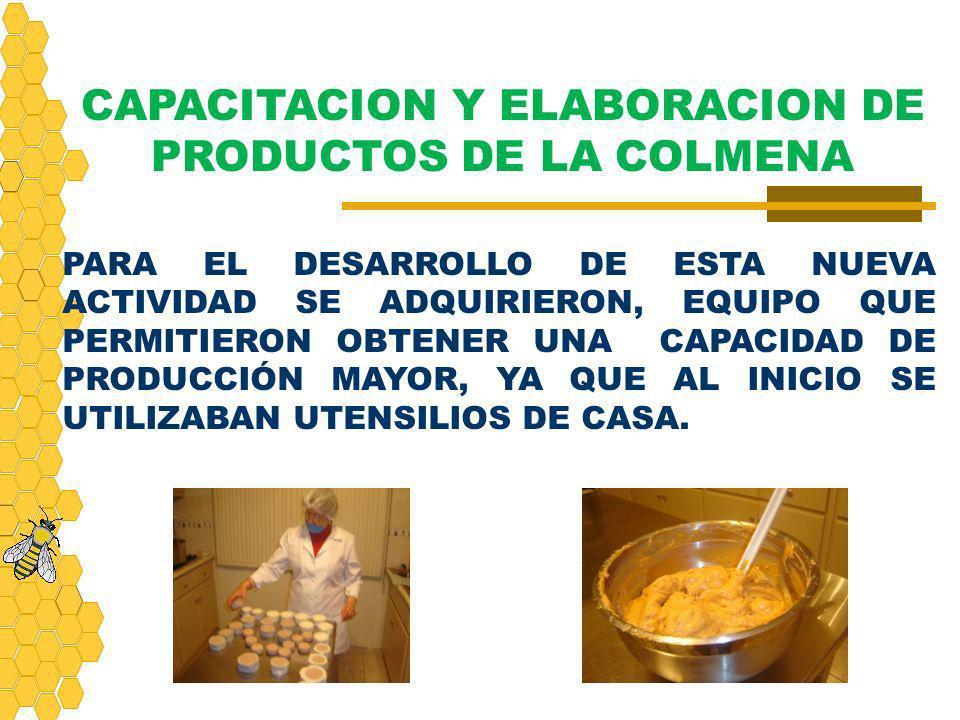 CAPACITACION Y ELABORACION DE PRODUCTOS DE LA COLMENA