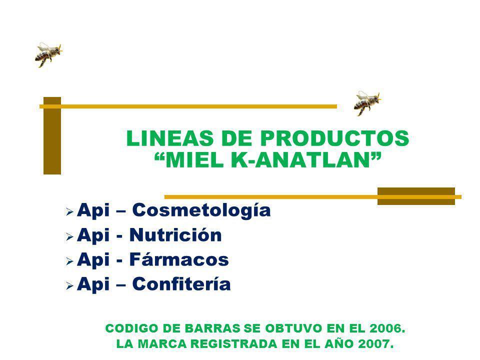 LINEAS DE PRODUCTOS MIEL K-ANATLAN