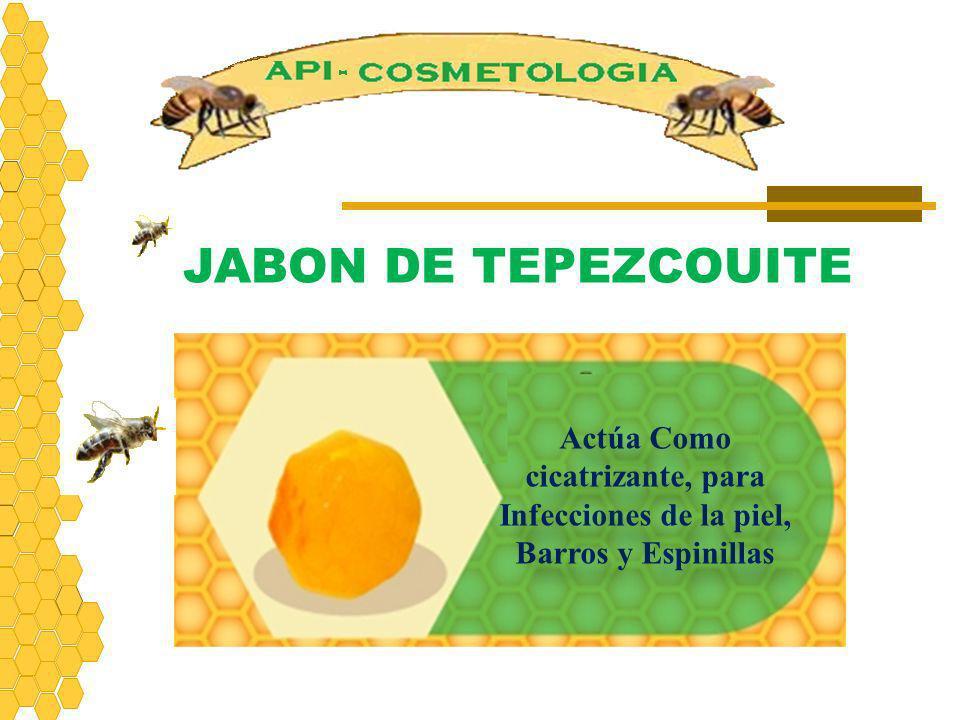 JABON DE TEPEZCOUITE Actúa Como cicatrizante, para Infecciones de la piel, Barros y Espinillas