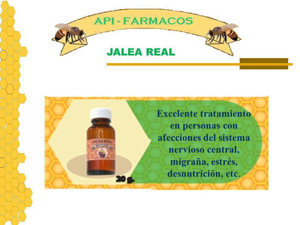 JALEA REAL Excelente tratamiento en personas con afecciones del sistema nervioso central, migraña, estrés, desnutrición, etc.