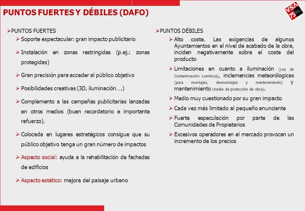 PUNTOS FUERTES Y DÉBILES (DAFO)
