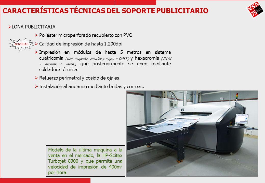 CARACTERÍSTICAS TÉCNICAS DEL SOPORTE PUBLICITARIO