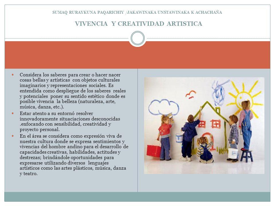 SUMAQ RURAYKUNA PAQARICHIY /JAKAWINAKA UNSTAWINAKA K ACHACHAÑA VIVENCIA Y CREATIVIDAD ARTISTICA