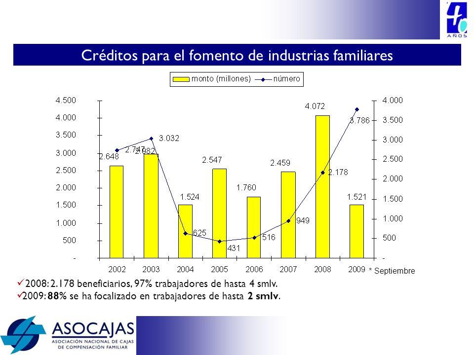 Créditos para el fomento de industrias familiares