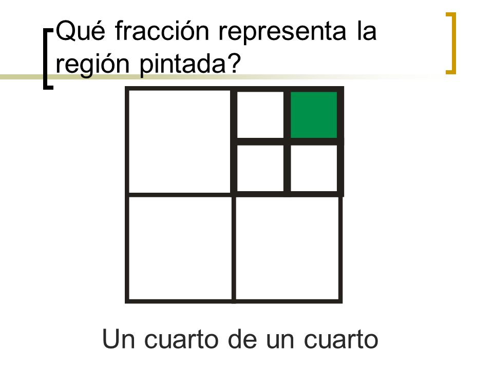 Qué fracción representa la región pintada
