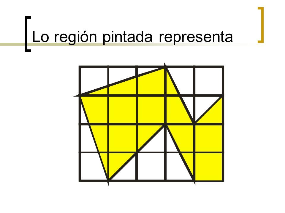 Lo región pintada representa