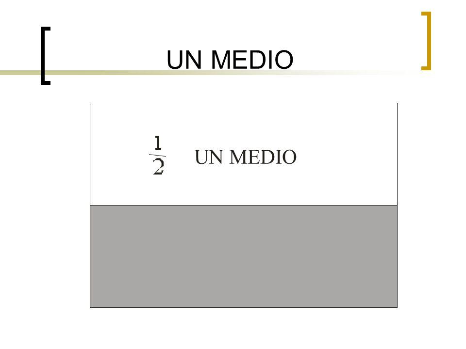 UN MEDIO UN MEDIO