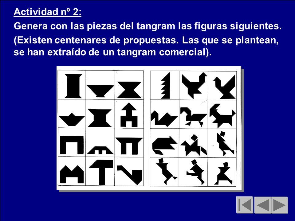 Actividad nº 2: Genera con las piezas del tangram las figuras siguientes.