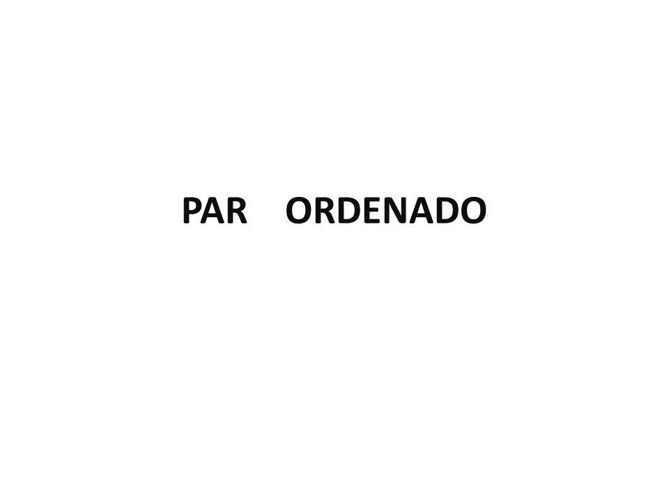 PAR ORDENADO