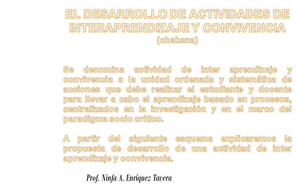 EL DESARROLLO DE ACTIVIDADES DE INTERAPRENDIZAJE Y CONVIVENCIA