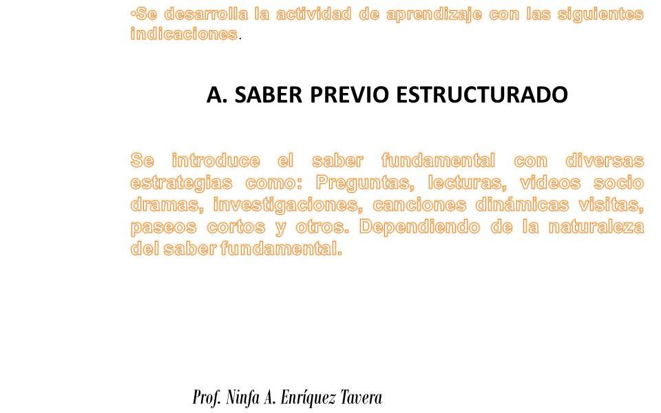A. SABER PREVIO ESTRUCTURADO