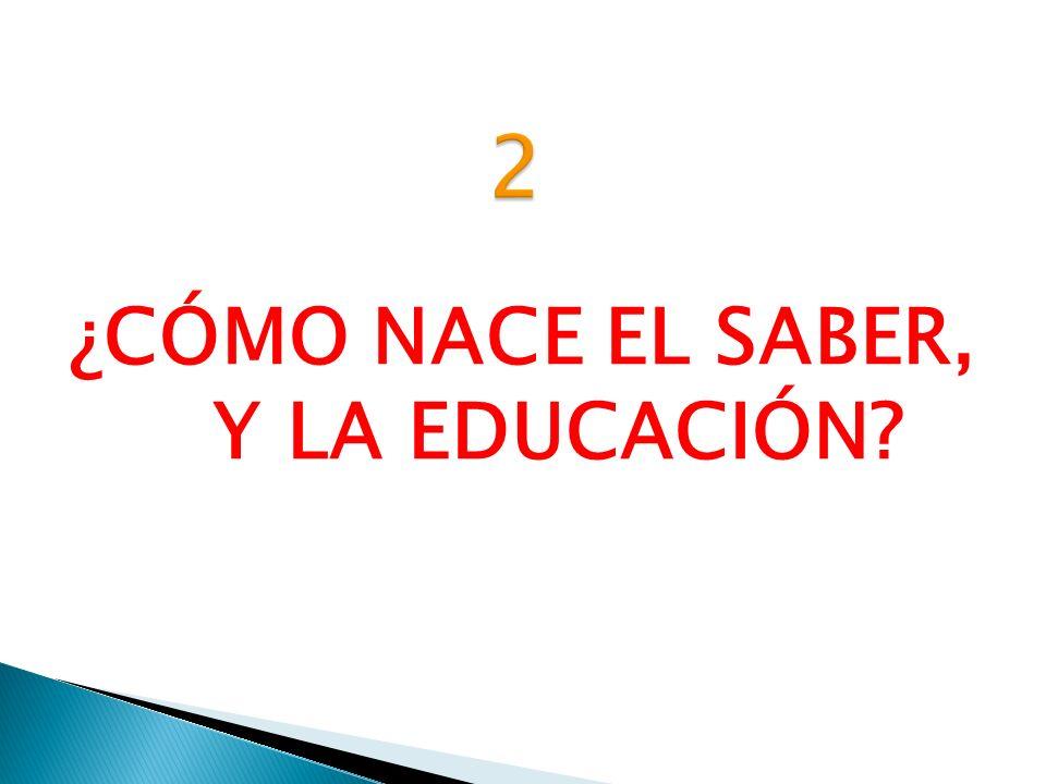 ¿CÓMO NACE EL SABER, Y LA EDUCACIÓN