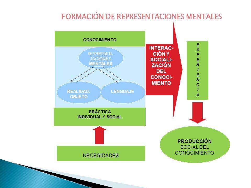 FORMACIÓN DE REPRESENTACIONES MENTALES