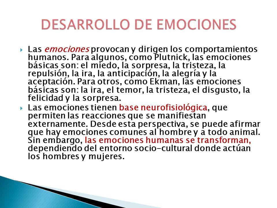 DESARROLLO DE EMOCIONES
