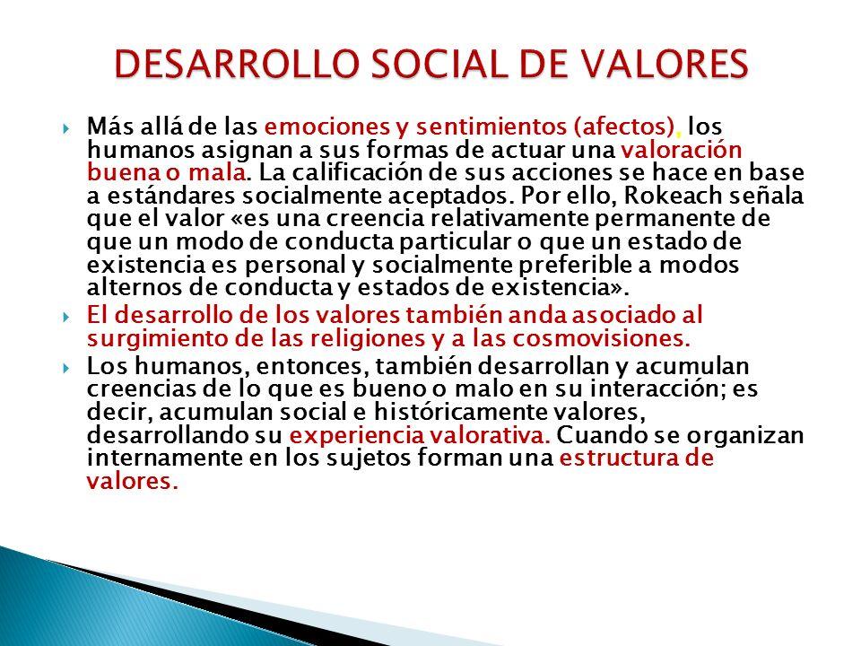 DESARROLLO SOCIAL DE VALORES