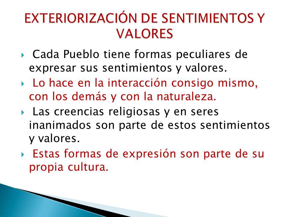 EXTERIORIZACIÓN DE SENTIMIENTOS Y VALORES