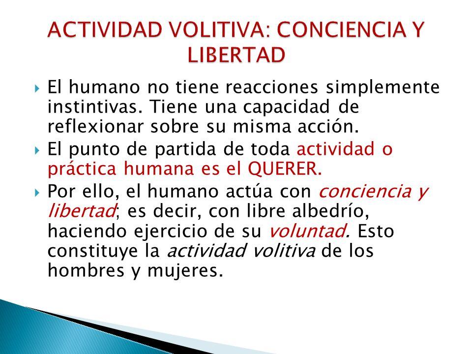 ACTIVIDAD VOLITIVA: CONCIENCIA Y LIBERTAD