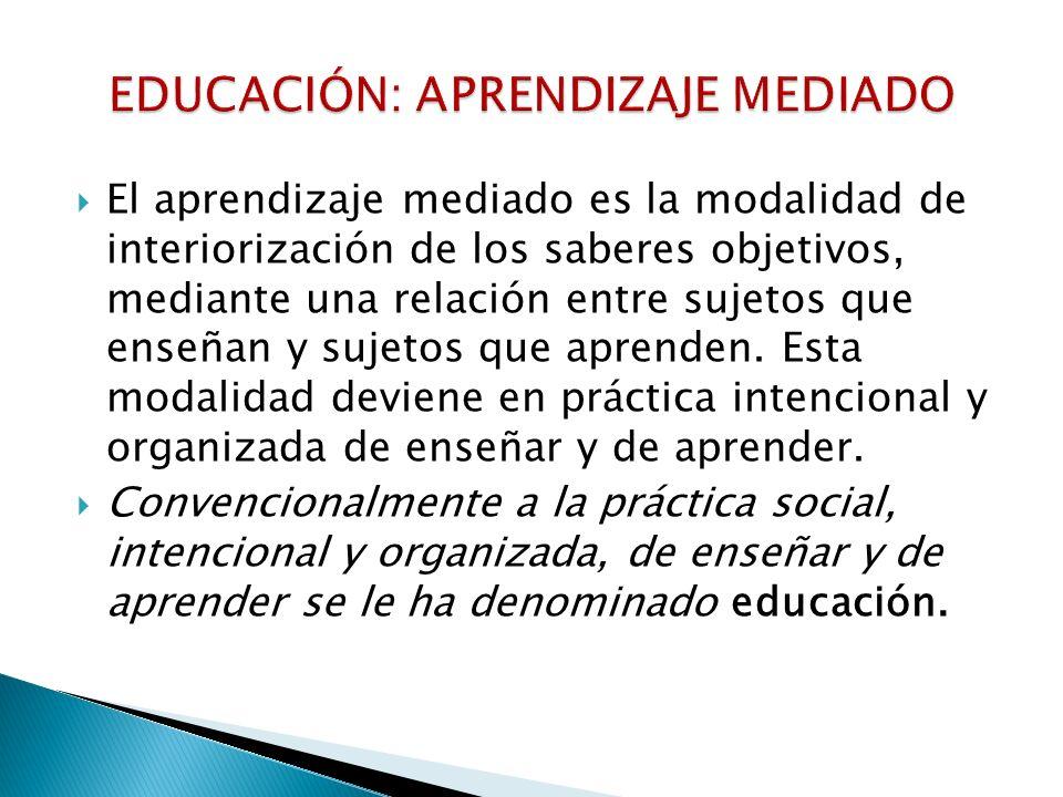 EDUCACIÓN: APRENDIZAJE MEDIADO