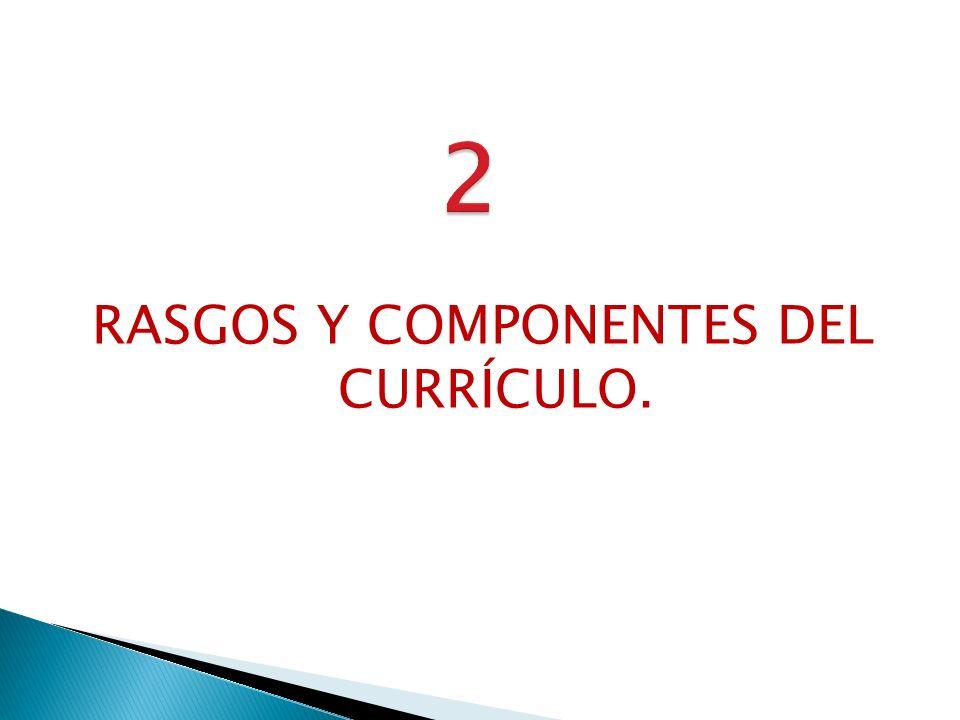 RASGOS Y COMPONENTES DEL CURRÍCULO.