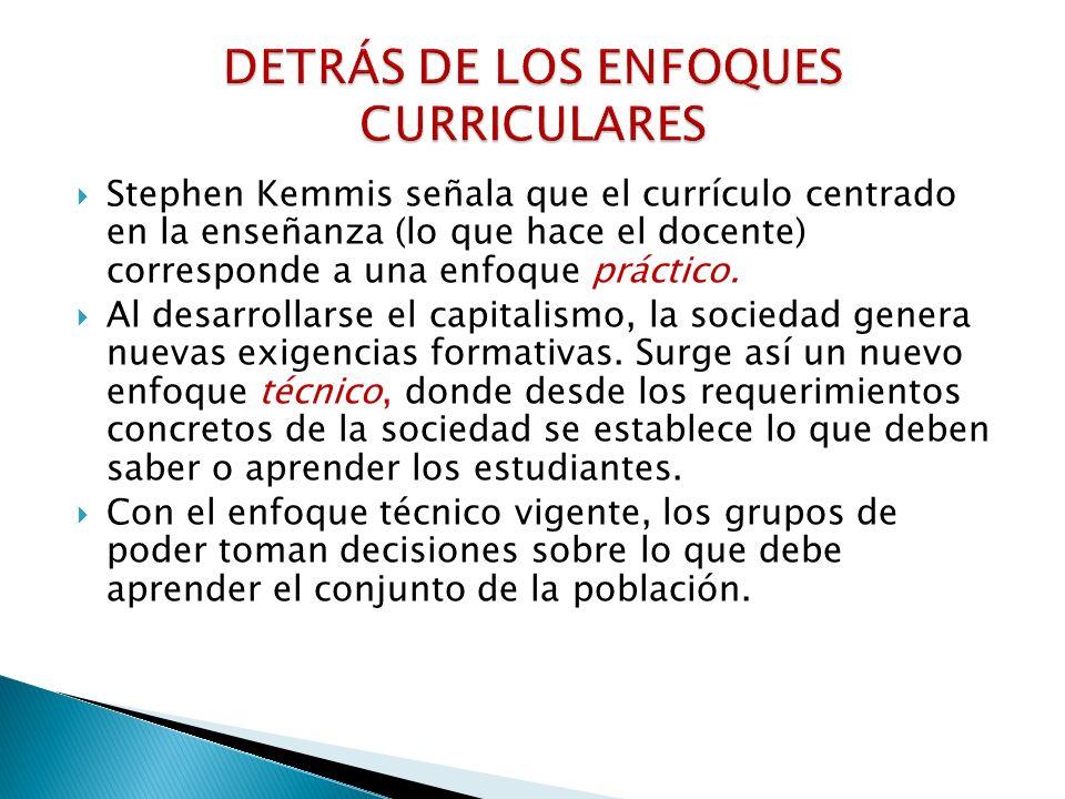 DETRÁS DE LOS ENFOQUES CURRICULARES