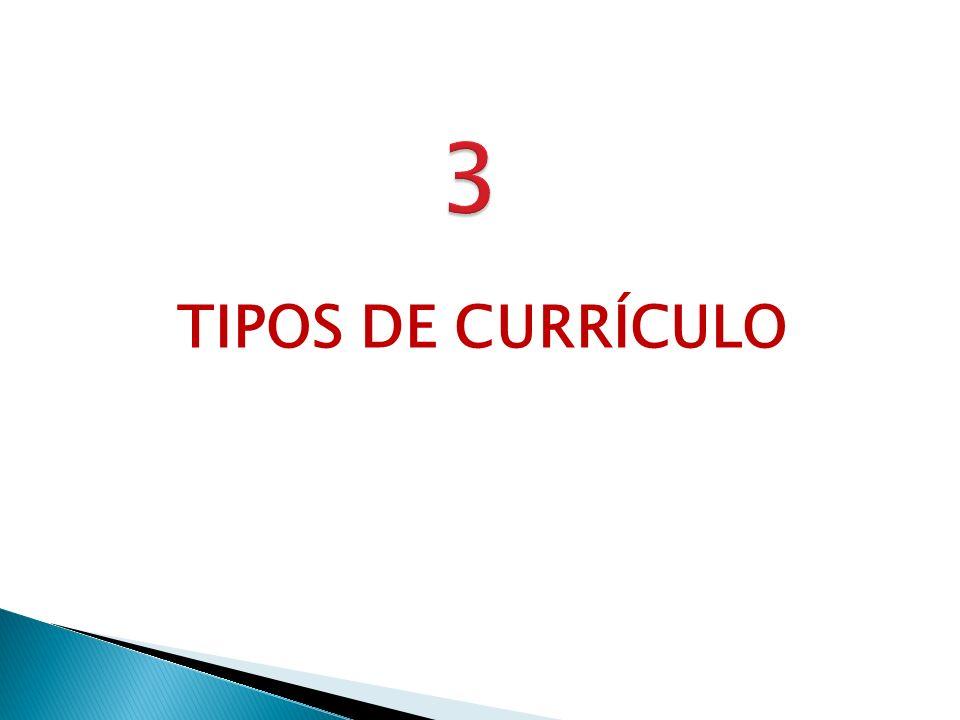 3 TIPOS DE CURRÍCULO