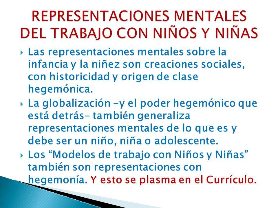 REPRESENTACIONES MENTALES DEL TRABAJO CON NIÑOS Y NIÑAS