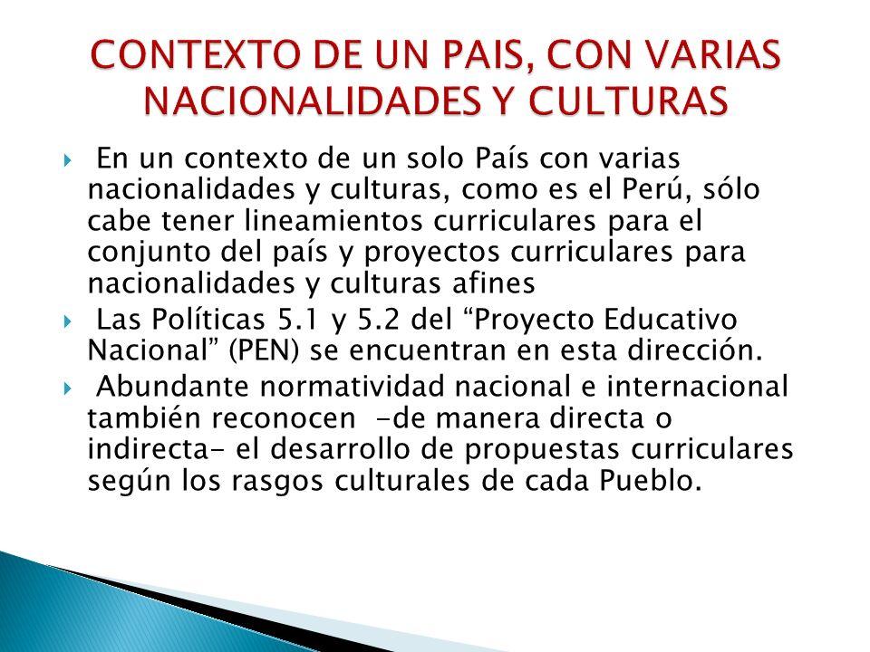 CONTEXTO DE UN PAIS, CON VARIAS NACIONALIDADES Y CULTURAS