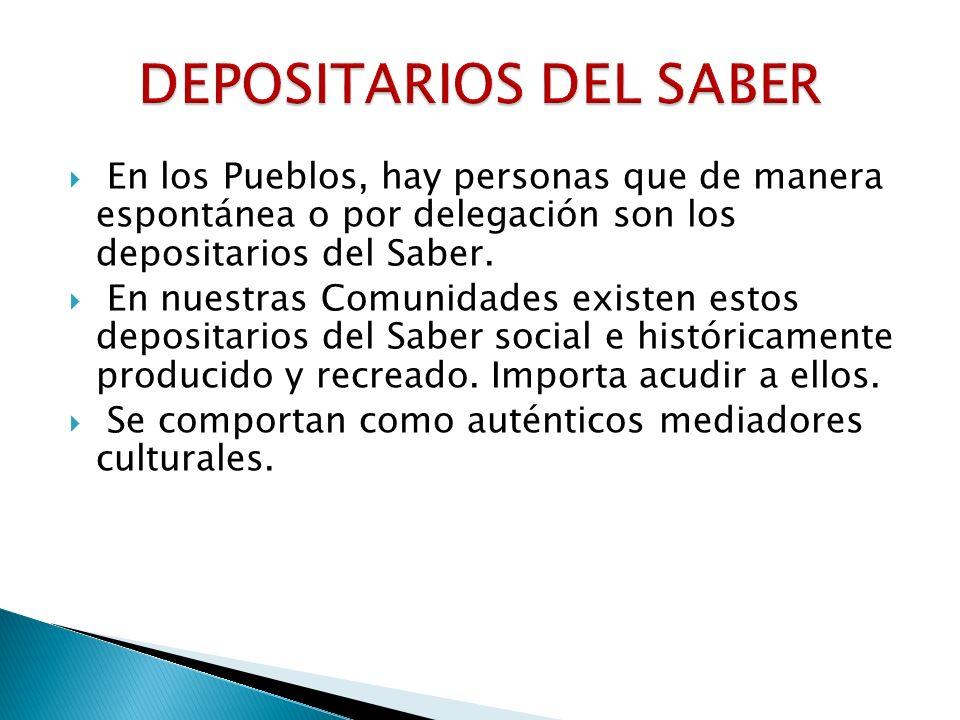 DEPOSITARIOS DEL SABER