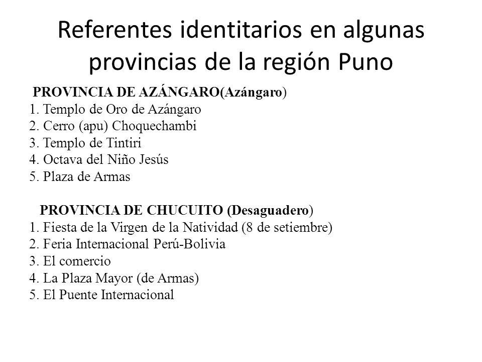 Referentes identitarios en algunas provincias de la región Puno