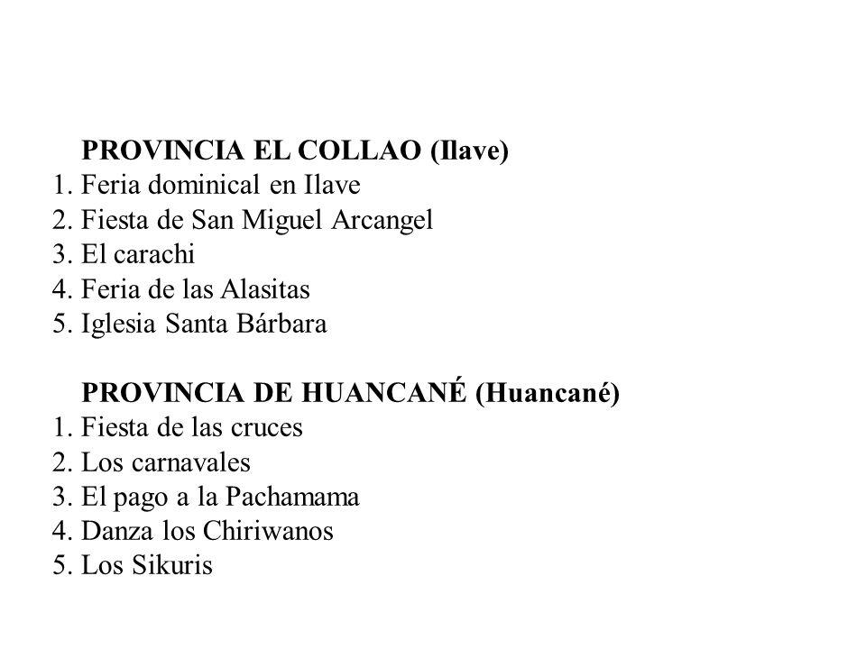 PROVINCIA EL COLLAO (Ilave)