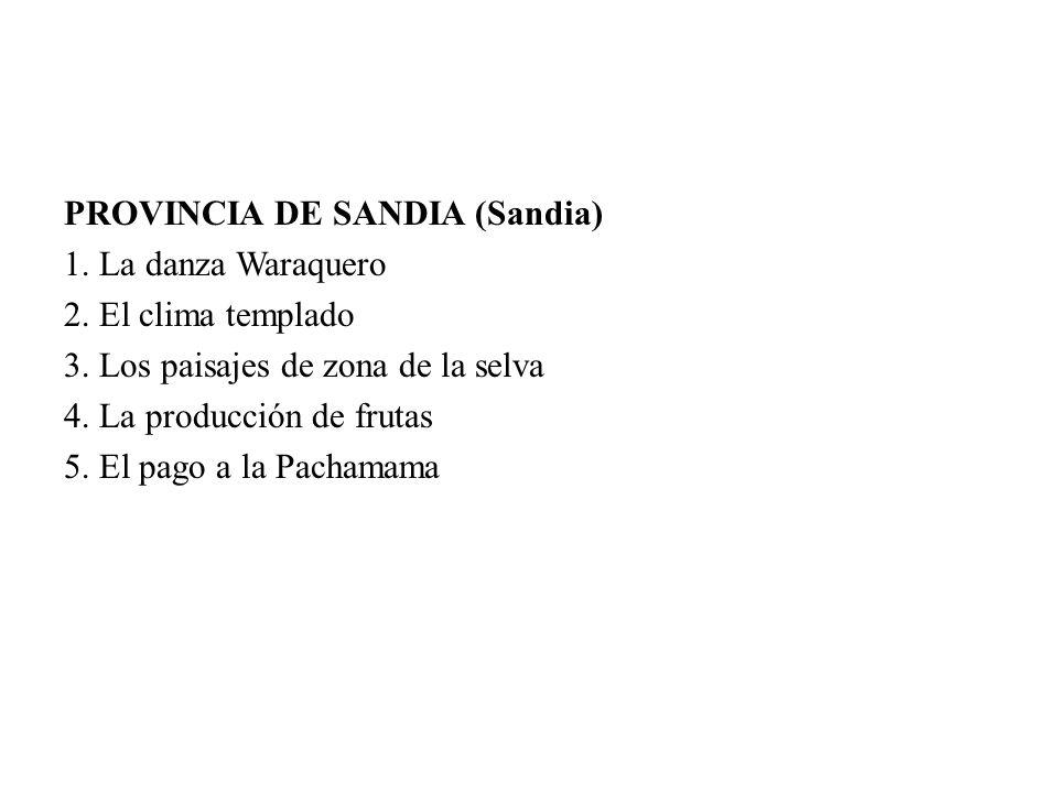 PROVINCIA DE SANDIA (Sandia)