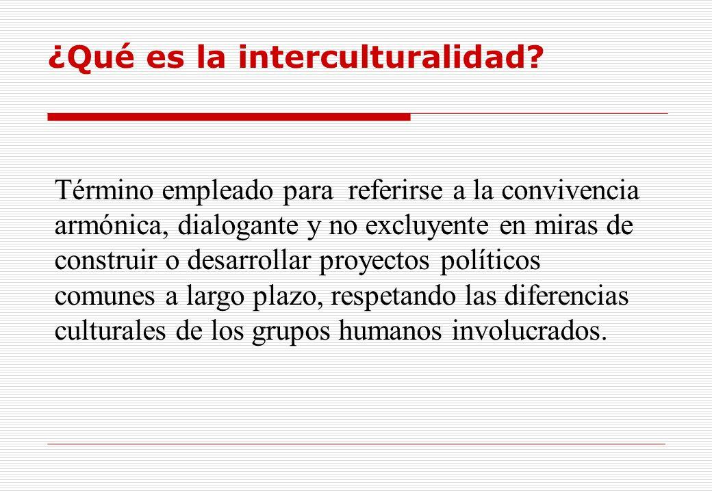 ¿Qué es la interculturalidad