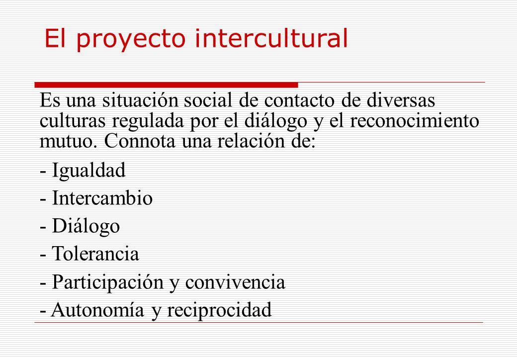 El proyecto intercultural