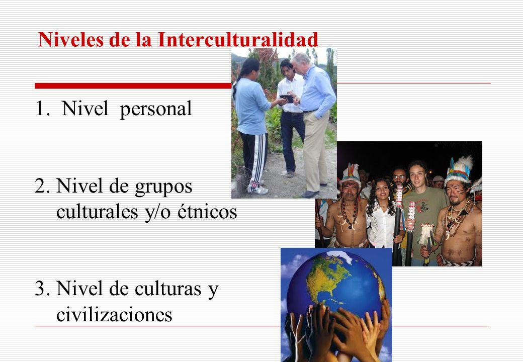 Niveles de la Interculturalidad
