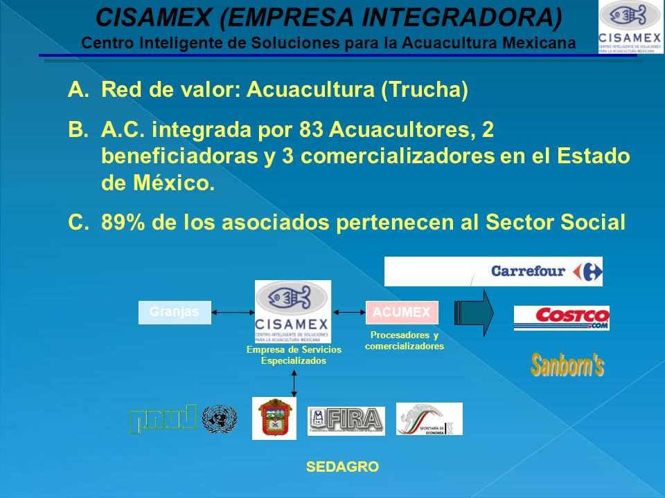 Empresa de Servicios Especializados Procesadores y comercializadores