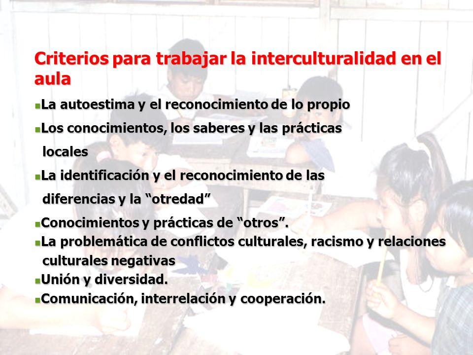 Criterios para trabajar la interculturalidad en el aula