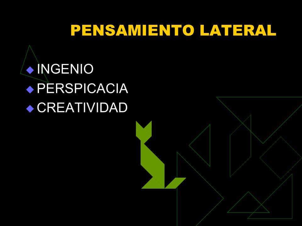 PENSAMIENTO LATERAL INGENIO PERSPICACIA CREATIVIDAD