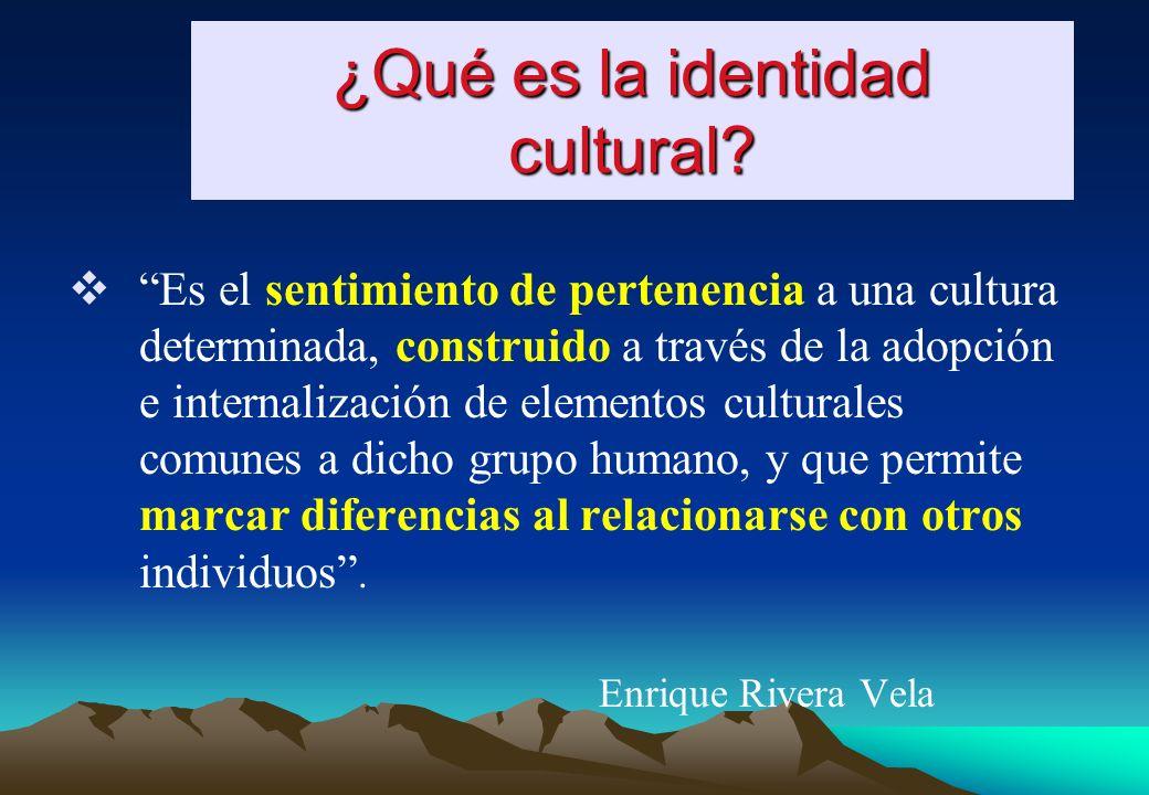 ¿Qué es la identidad cultural