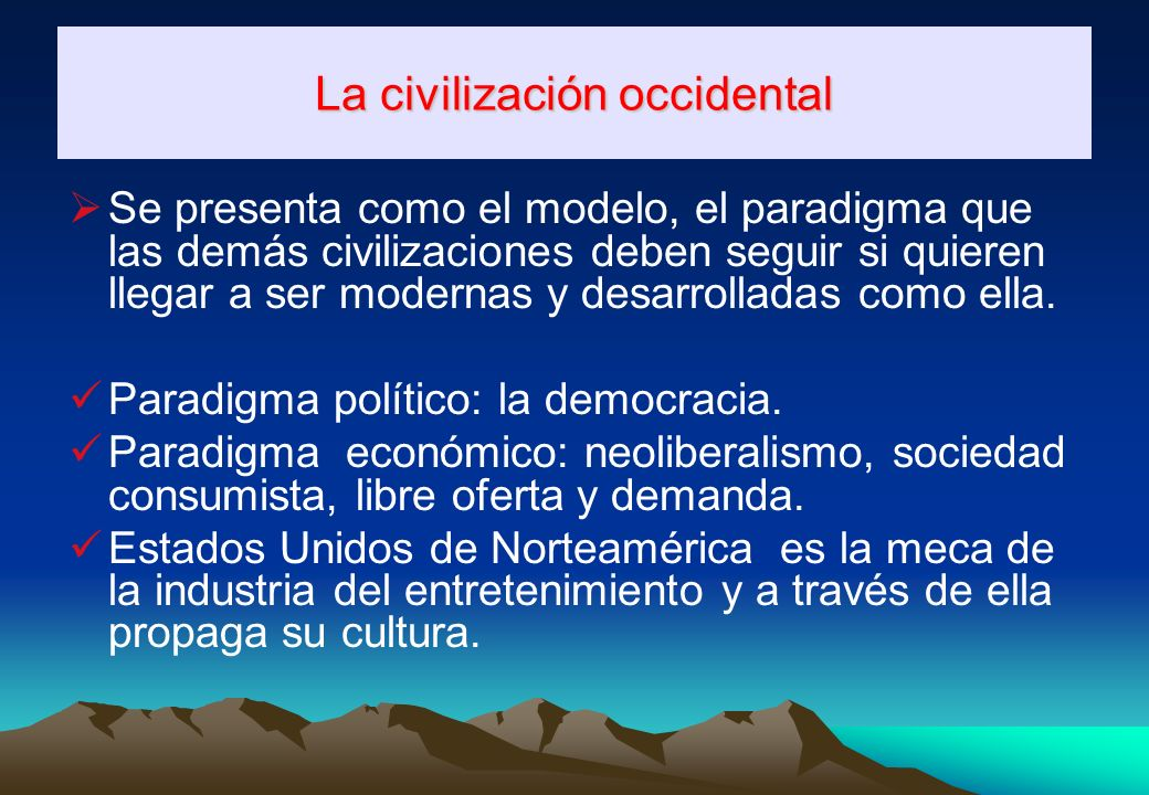 La civilización occidental