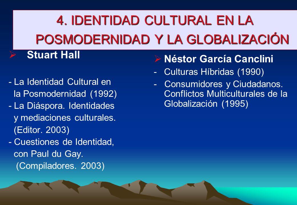 4. IDENTIDAD CULTURAL EN LA POSMODERNIDAD Y LA GLOBALIZACIÓN