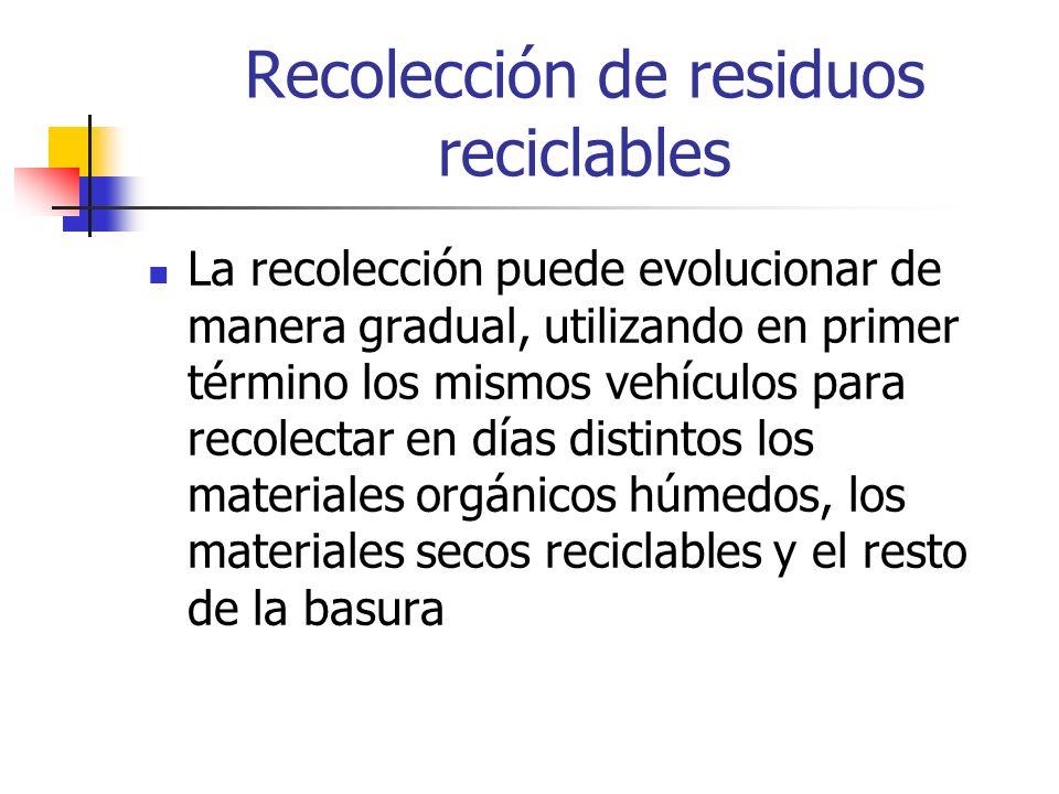 Recolección de residuos reciclables