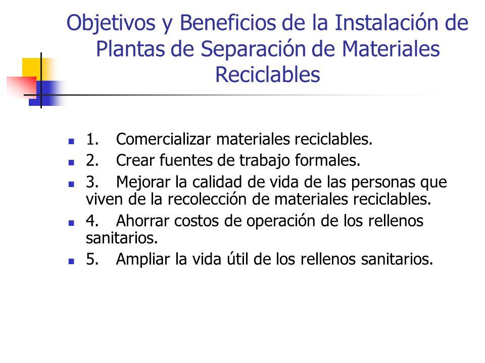 Objetivos y Beneficios de la Instalación de Plantas de Separación de Materiales Reciclables